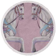 Under The Canopy Art Round Beach Towel
