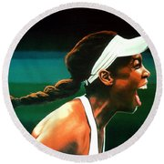 Venus Williams Round Beach Towel by Paul Meijering