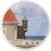 Round Beach Towel featuring the photograph Viejo San Juan by Daniel Sheldon