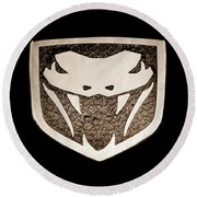 Viper Emblem Round Beach Towel