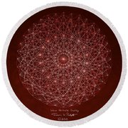Wave Particle Duality Round Beach Towel by Jason Padgett