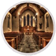 Westminster Presbyterian Church Round Beach Towel by Amanda Stadther