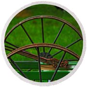 Wheels Of Time Round Beach Towel