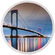Whitestone Bridge Round Beach Towel