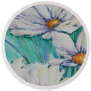 Wild Daisys Round Beach Towel by Chrisann Ellis