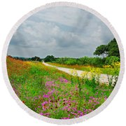 Wildflower Wonderland Round Beach Towel by Lynn Bauer
