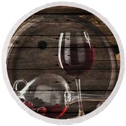 Wine Round Beach Towel