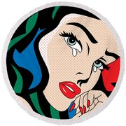 Wonder Woman Round Beach Towel