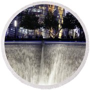 World Trade Center Museum Round Beach Towel by Lilliana Mendez