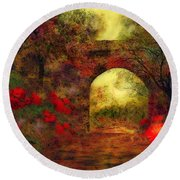 Ye Olde Railway Bridge Round Beach Towel