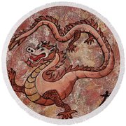 Round Beach Towel featuring the painting Year Of The Dragon by Darice Machel McGuire