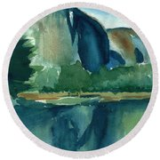Yosemite National Park Round Beach Towel by Frank Bright