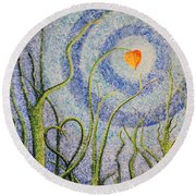 You Always Know Round Beach Towel by Holly Carmichael