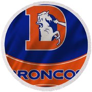 Denver Broncos Uniform Round Beach Towel
