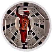 2001 A Space Odyssey Round Beach Towel