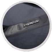 2011 Dodge Challenger Rt Black Round Beach Towel
