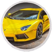 2013 Lamborghini Adventador Lp 700 4 Round Beach Towel