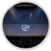 2014 Dodge Viper Hood Emblem -1066c Round Beach Towel