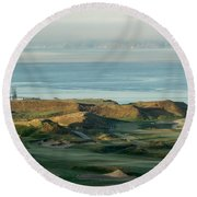 2015 U.s. Open - Chambers Bay I Round Beach Towel