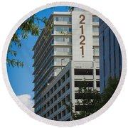 2121 Building Round Beach Towel