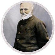 Andrew Carnegie (1835-1919) Round Beach Towel