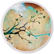 Tree Branch Collection Round Beach Towel