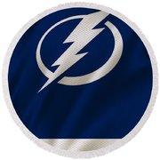 Tampa Bay Lightning Round Beach Towel