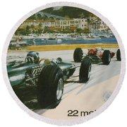 24th Monaco Grand Prix 1966 Round Beach Towel