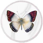 27 Magenta Tip Butterfly Round Beach Towel