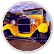 '28 Ford Pick Up Round Beach Towel
