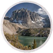 2nd Lake And Temple Crag Round Beach Towel