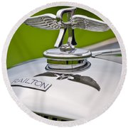 1937 Railton Rippon Brothers Special Limousine Hood Ornament Round Beach Towel