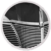 1940 Ford Deluxe Coupe Grille Round Beach Towel