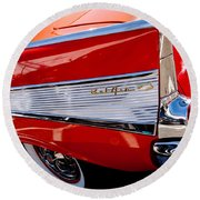 1957 Chevy Bel Air Custom Hot Rod Round Beach Towel