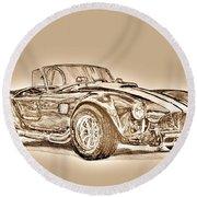 1965 Muscle Car Round Beach Towel