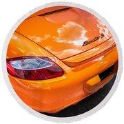 2008 Porsche Limited Edition Orange Boxster  Round Beach Towel