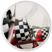 Airplanes At The Airshow Round Beach Towel