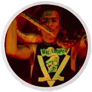 Alice Cooper At The Concord Pavillion Round Beach Towel