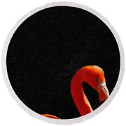 American Pink Flamingo Round Beach Towel