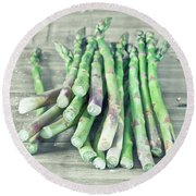 Asparagus Round Beach Towel