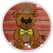 Baby Bear Collection Round Beach Towel by Marvin Blaine