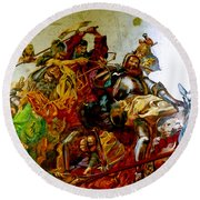 Battle Of Grunwald Round Beach Towel