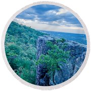Beautiful Aerial Landscape Views From Crowders Mountain Near Gas Round Beach Towel