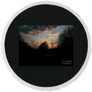 Round Beach Towel featuring the photograph Beauty In The Sky by Kelly Awad
