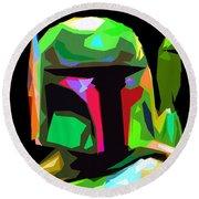 Boba Fett Star Wars Round Beach Towel by Daniel Janda