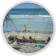 Burleigh Beach 220909 Round Beach Towel