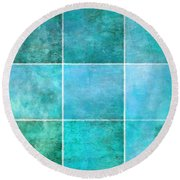 3 By 3 Ocean Round Beach Towel