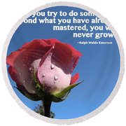 Choose Your Quote Choose Your Picture 21 Round Beach Towel