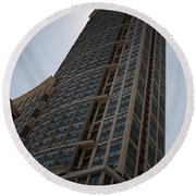 Round Beach Towel featuring the photograph City Architecture by Miguel Winterpacht