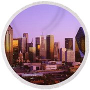 Dallas, Texas, Usa Round Beach Towel by Panoramic Images